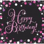Pink Celebration Happy Birthday! Lunch Napkins Pack of 16