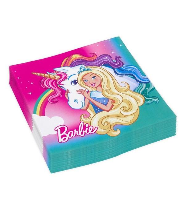 Barbie Dreamtopia Lunch Napkins 33cm x 33cm Pack of 20