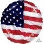 Round USA Flying Colours Standard XL Foil Balloon 45cm