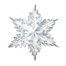 Metallic Silver Christmas Snowflake Hanging Decoration