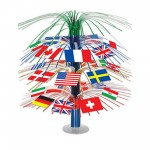 International Party Decorations - Centrepiece Flags Cascade