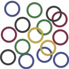 Sports Multi Coloured Rings Confetti 14g