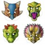 Dinosaur Assorted Designs Party Masks 26cm Pack of 4