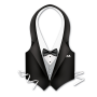 Hollywood Plastic Tuxedo Vest Adult Costume One Size Fits Most