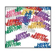 Multi Coloured Happy New Year Confetti 14g Single Pack