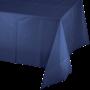 Navy Blue Plastic Table Cover 137cm x 274m