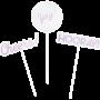 Iridescent Foil Assorted Sticks Centrepieces Pack of 3