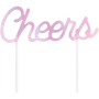 Iridescent Foil Cheers Cake Topper 15cm x 15cm