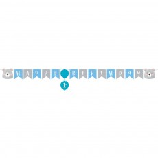 1st Birthday Bear Party Decorations - Banner Ribbon