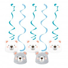 1st Birthday Bear Party Decorations - Hanging Decorations Dizzy Dangler