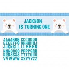 1st Birthday Bear Party Decorations - Banner Giant Personalize It