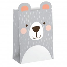 1st Birthday Bear Party Supplies - Favour Bags Paper Treat Bags