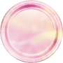 Round Iridescent Foil Lunch Plates 18cm Pack of 8