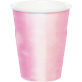 Iridescent Foil Paper Cups 266ml Pack of 8