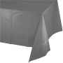 Grey Party Supplies - Plastic Table Cover