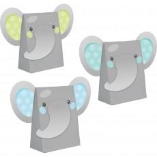 Boy Enchanting Elephant Paper Treat Favour Bags 18cm x 11cm Pack of 8