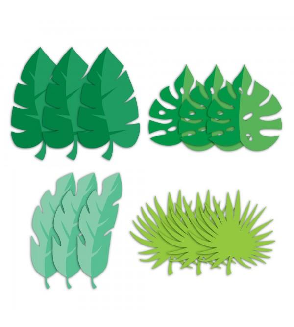 Dinosaur Boy Dino Decor Leaf Cutouts 18cm Pack of 12