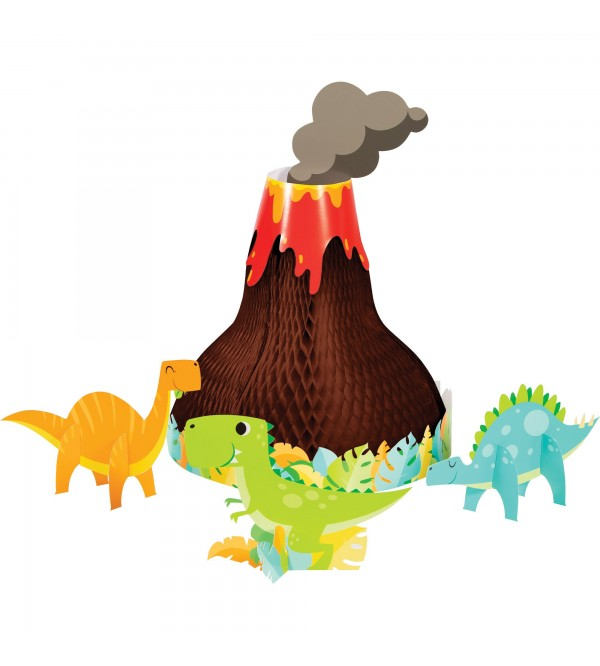 Dinosaur Boy Dino Decor 3D Centrepieces Pack of 4
