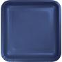 Square Navy Blue Dinner Plates 23cm Pack of 18