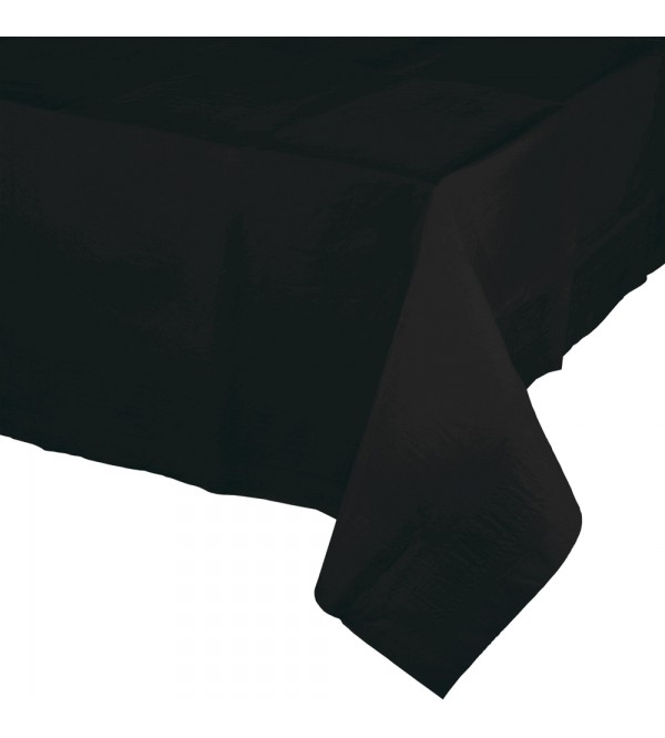 Black Velvet Tissue & Plastic Back Table Cover 137cm x 274cm
