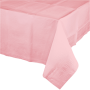 Classic Pink Tissue & Plastic Back Table Cover 137cm x 274cm