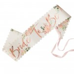 Hens Night Floral Sash Bride to Be