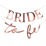 Rose Gold Hens Night Bunting Bride to Be Banner 1.5m