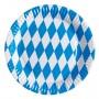 Round Oktoberfest Bavarian Dinner Plates 23cm Pack of 8