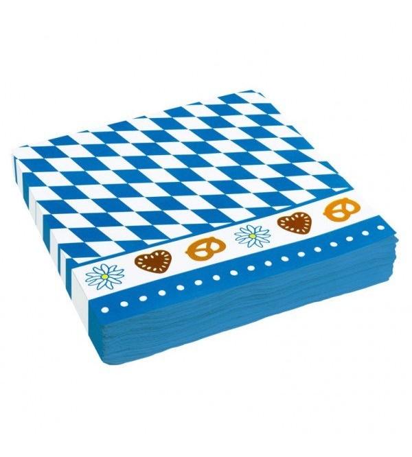 Oktoberfest Bavarian Border Design Lunch Napkins Pack of 20