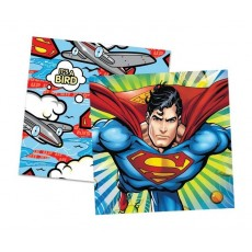 Superman Lunch Napkins 33cm x 33cm Pack of 16