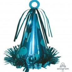 Light Blue Party Hat Balloon Weight