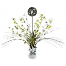 50th Birthday Sparkling Celebration Centrepiece 45cm