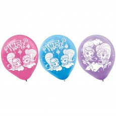 Teardrop Pink, Blue & Purple Shimmer & Shine Latex Balloons 30cm Pack of 6