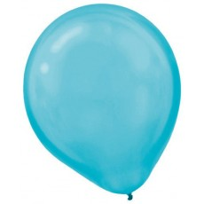 Teardrop Pearl Caribbean Blue Latex Balloons 30cm Pack of 15