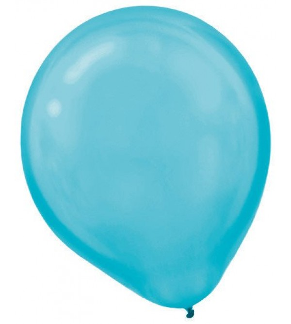 Teardrop Pearl Caribbean Blue Latex Balloons 30cm Pack of 15