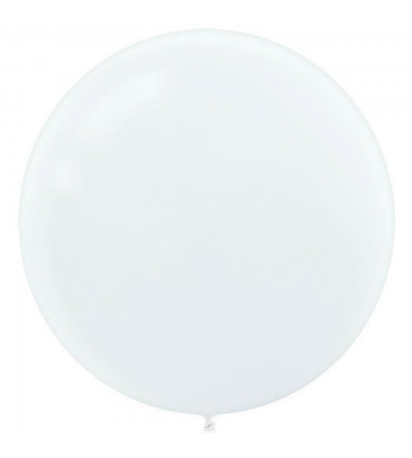 White Latex Balloons 60cm Pack of 4