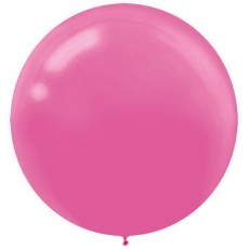 Round Bright Pink Latex Balloons 60cm Pack of 4