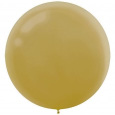Round Gold Latex Balloons 60cm Pack of 4