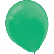 Teardrop Festive Green Latex Balloons 12cm Pack of 50