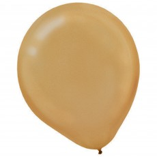 Teardrop Pearl Gold Latex Balloons 12cm Pack of 50