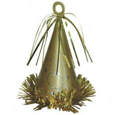 Gold Party Hat Balloon Weight 170g