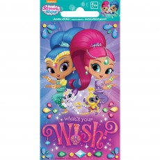 Shimmer & Shine Jumbo Sticker Favour 14cm x 7cm