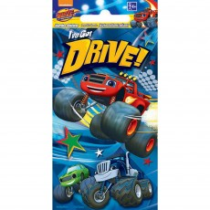Blaze & The Monster Machines Jumbo Sticker Favour 14cm x 7cm