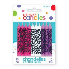 Birthday-licious Candles 6cm Assorted Colours Pack of 10
