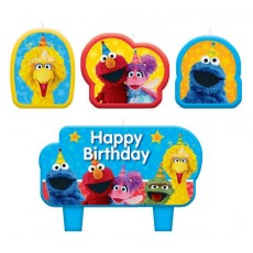 Sesame Street Mini Moulded Candles Pack of 4