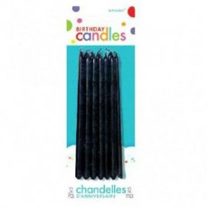 Black Taper Candles 13cm Pack of 12