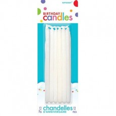 White Taper Candles 13cm Pack of 12