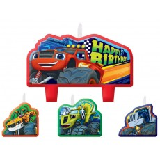 Blaze & The Monster Machines Mini Moulded Candles Pack of 4