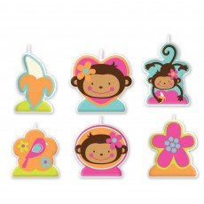 Monkey Love Candles Pack of 6