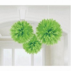 Green Hanging Decorations 40cm Pack of 3